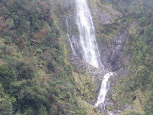 One of many waterfalls in Doubtful Sound